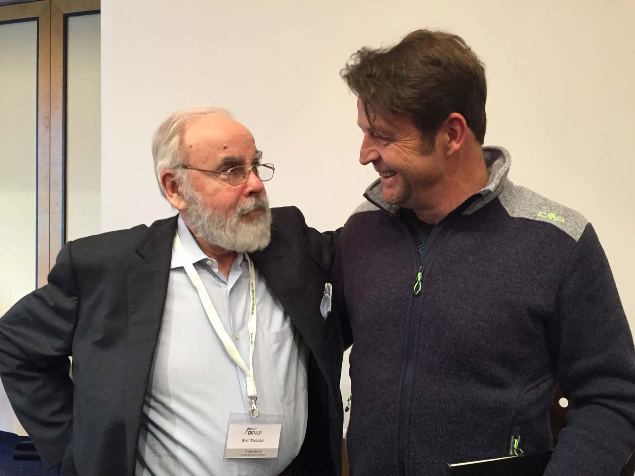 Dirk Tischer und Dr. Wyatt Woodsmall 17.05.2016